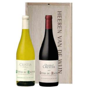Heeren van de Wijn Geschenk Cristia Cotes du Rhone